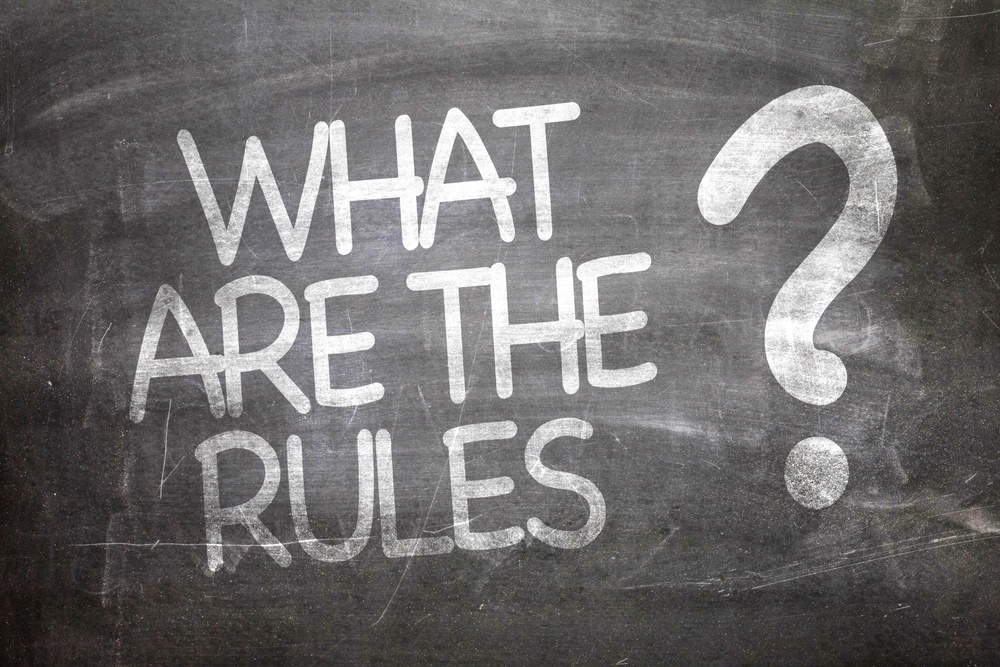 What Are The Rules? written on a chalkboard
